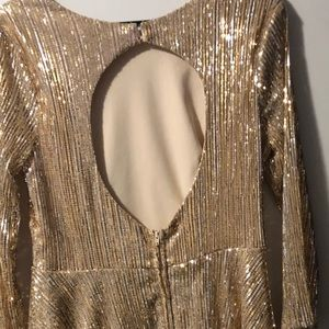 Jodi Kristopher Dresses - Gold Sparkly Dress (Sequin)